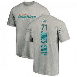 Men's Jaryd Jones-Smith Miami Dolphins Backer T-Shirt - Ash