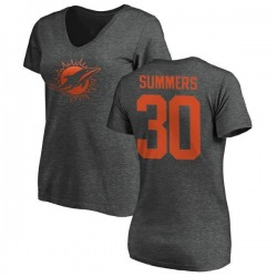 Women's Jamar Summers Miami Dolphins One Color T-Shirt - Ash